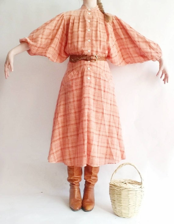 Vintage 70s/80s Country Chemisier Dress