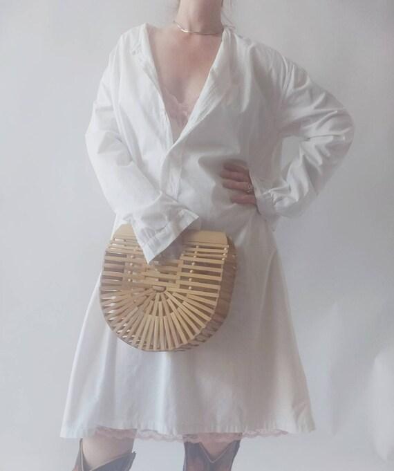 Matilde ~ Antique White Cotton Dress - image 4