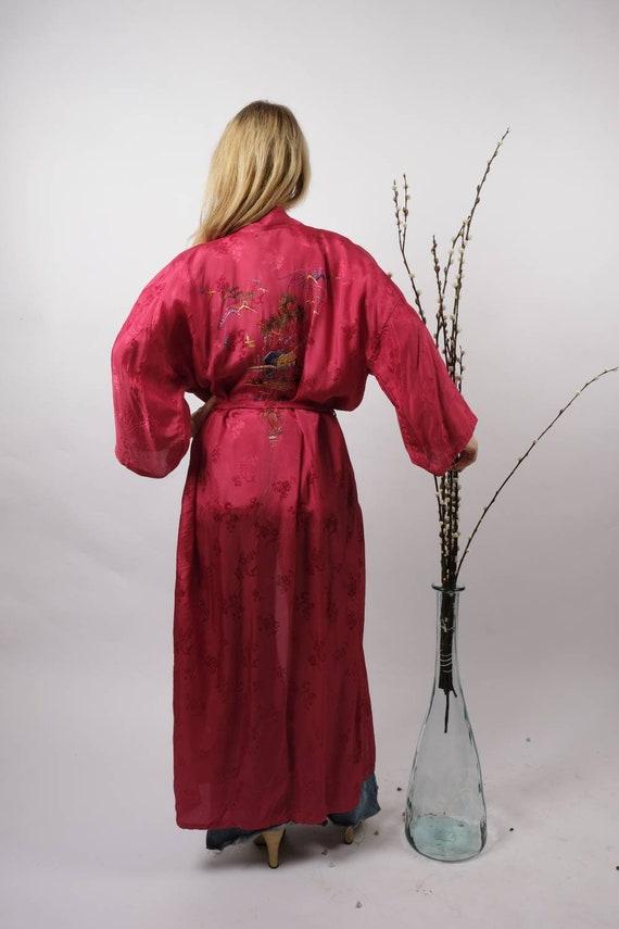 Vintage 30s Handembroidered Kimono ~ Bohemian Robe