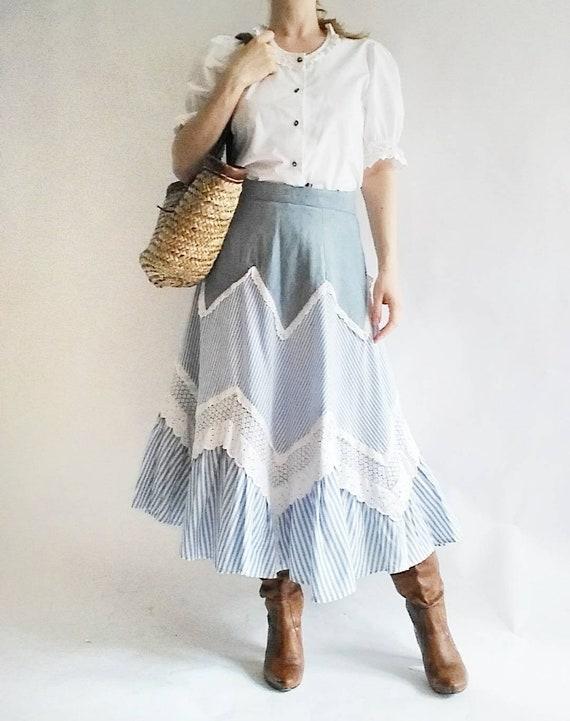 Vintage 70s Patchwork Skirt