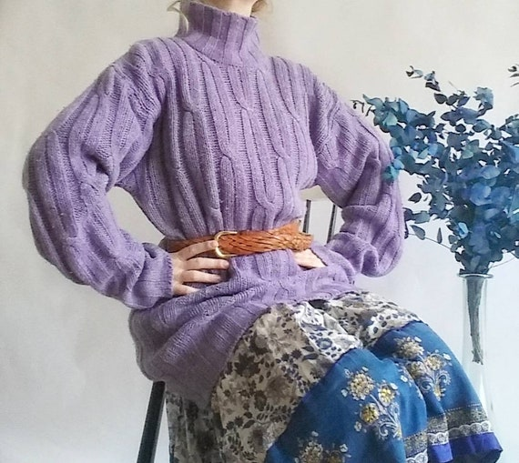 Vintage Lavander Sweater in Pure Wool