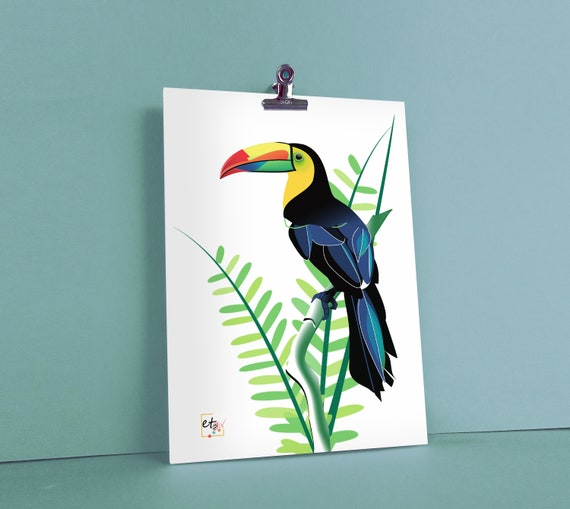 TROPICAL BIRDS COLOURFUL TOUCAN ANIMAL POSTER PICTURE PRINT Sizes A5 to A0 *NEW*