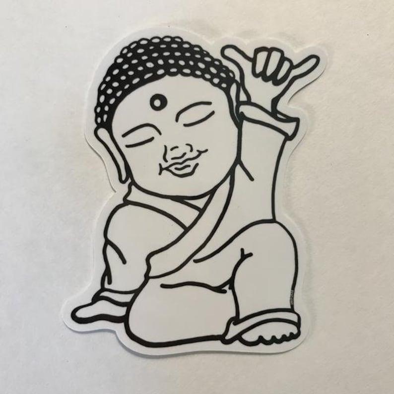 Shaka Buddha Sticker image 0