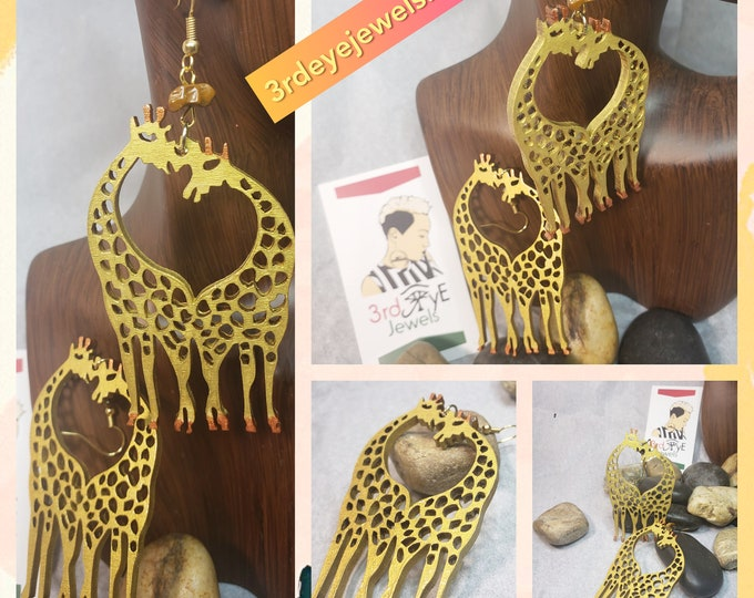 Kissing Giraffes Earrings
