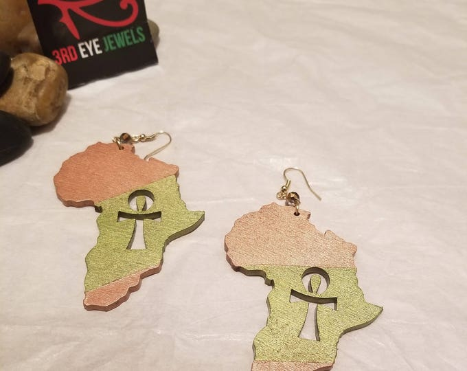 Africa Ankh Cut Out Earrings