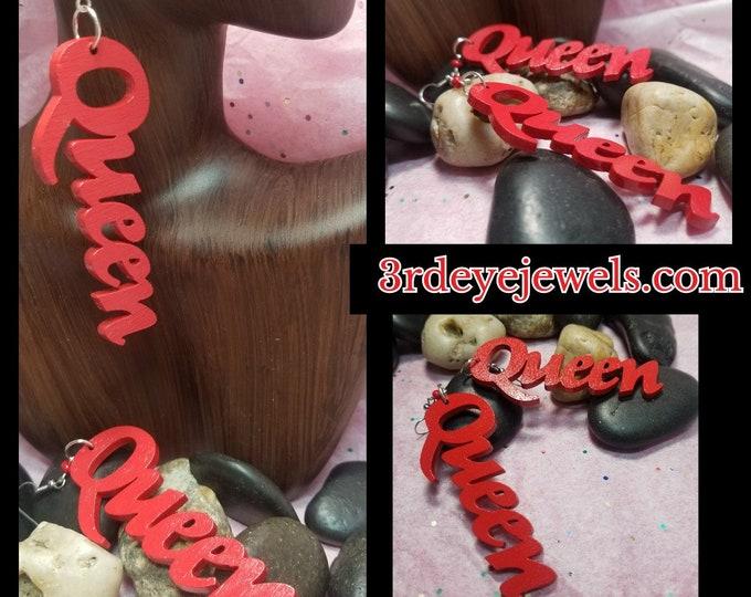 Hand painted Queen Earrings