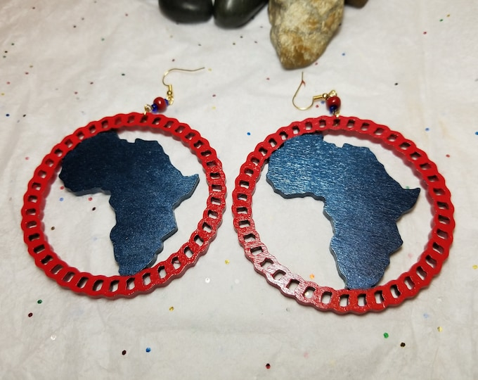 Africa Hoop Earrings