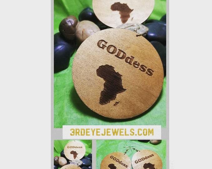Hand Painted Goddess Earrings