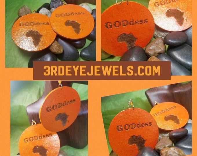 Hand Painted GODdess Earrings: Statement Earrings