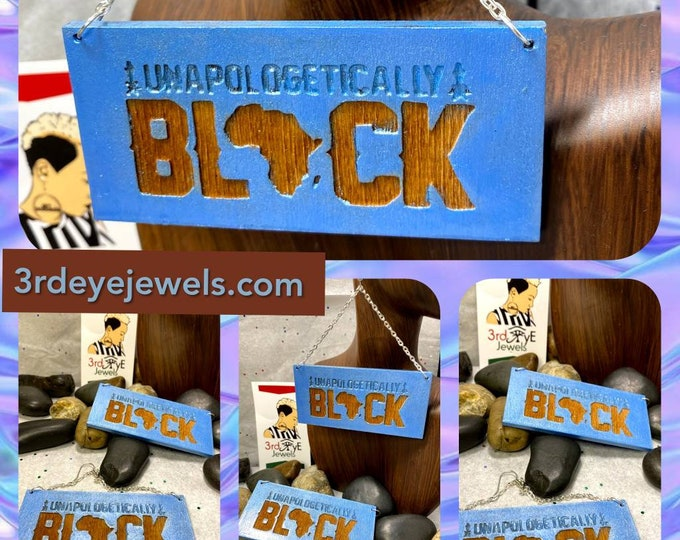 Hand Painted Ice Blue:  Unapologetically Black Africa Earrings