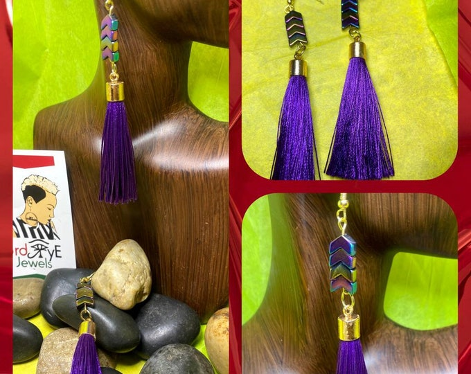 Purple Jazzy Tassel Earrings