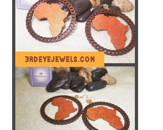 Africa Hoop Earrings