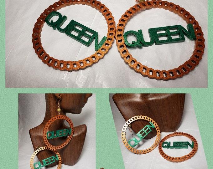 Queen Hoop Earrings
