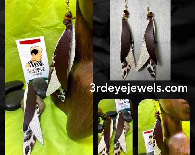 Faux Leather Wild Side Animal Print Earrings
