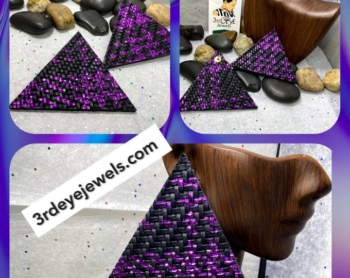 Faux Leather Triangle/PyRAmid Abstract Earrings