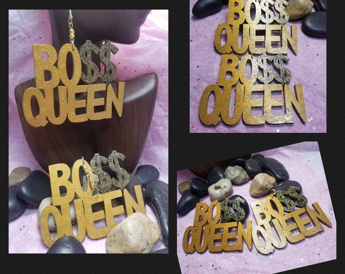 Boss Queen Hand Painted Earrings