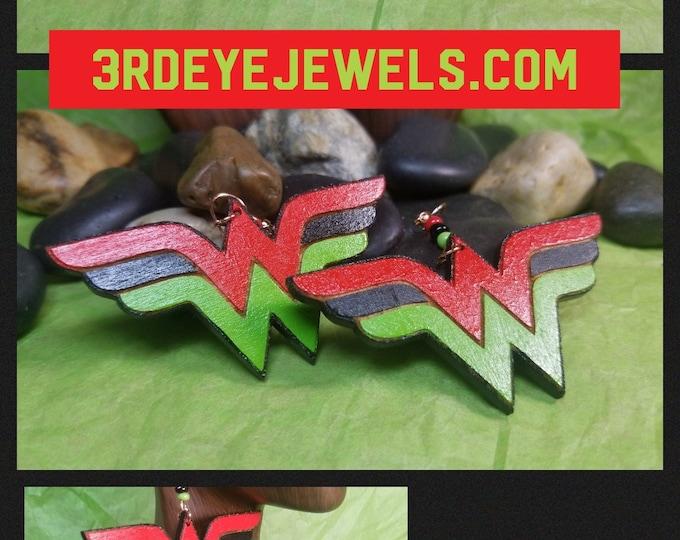 Hand Painted RBG Wonder Woman Earrings