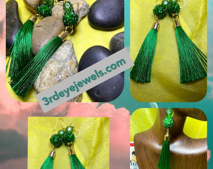 Handmade:   Jazzy Tassel Dangle Earrings