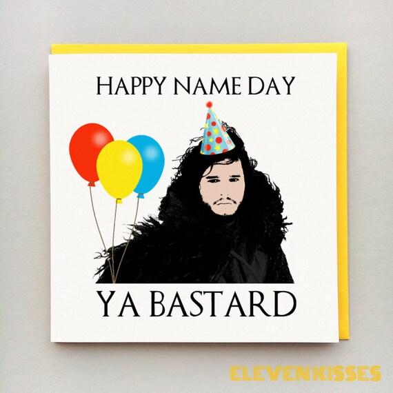 Jon Snow Card Game Of Thrones Birthday