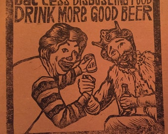 Starving artist brewery craft beer print artist proof only 5 made ronald mcdonald Burger King mcdonalds Charles State