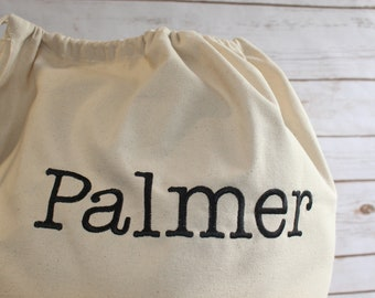 Personalized Canvas Laundry Bag - Graduation Gift