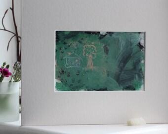 original artwork. small artwork. 'time travel'
