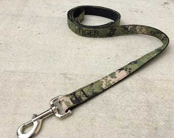 Military Navy Type 3 High Quality Personalized Dog Leash | Navy Type 3 | Military Dog | Military Gift | Navy Wife | Navy Girlfriend