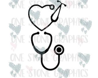 Stethoscope svg, stethoscope,svg files,cricut,heart stethoscope,heart stethoscope svg,stethoscope cuttable files, nurse svg, Emt svg, Svgs