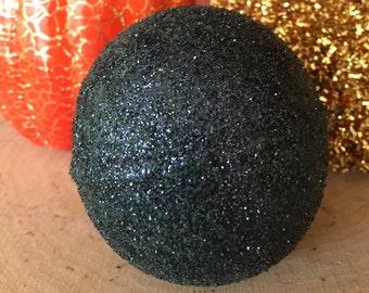 black bath bomb - glitter bath bomb