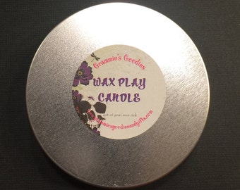 Soy Wax Massage Oil Candle - unscented/ no color added