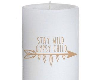 Gypsy Child Pillar Candle