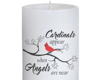 Cardinals Appear When Angels Are Near Candle