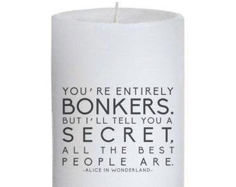 Alice Quote Candle
