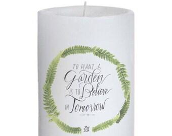 Hepburn Quote Pillar Candle