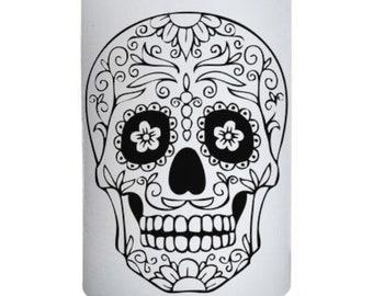 Sugar Skull Head Candle