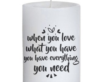 Inspirational Quote Candle