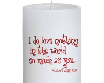 Shakespeare Quote Candle