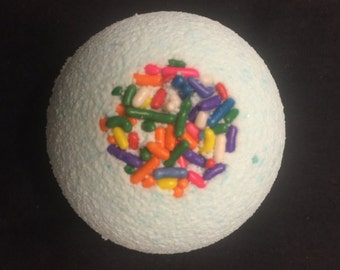BATH BOMB SET of 2 ~ cake scented w/ sprinkles