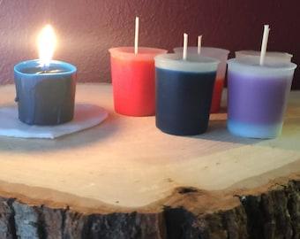 6 hot WAX PLAY candles fun set BDSM bondage paraffin votives