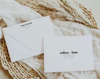 Chloe   Modern Envelope Template, Printable Envelope Template, Envelope Address Template, Printable Wedding Envelope Template, DIY Printable