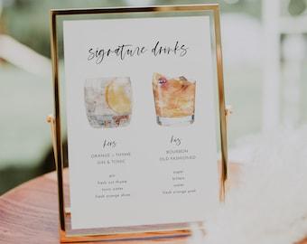 bar signs + drink menus