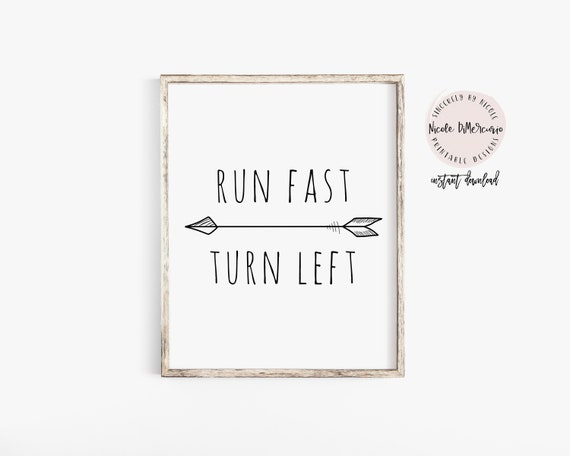 Run Fast Turn Left Track And Field Track Quote Track Etsy