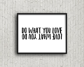 Do What You Love Love What You Do, Motivational Poster, Inspirational Wall Art, Fitness, Fitness Motivation, Gift For Runner, Digital Art