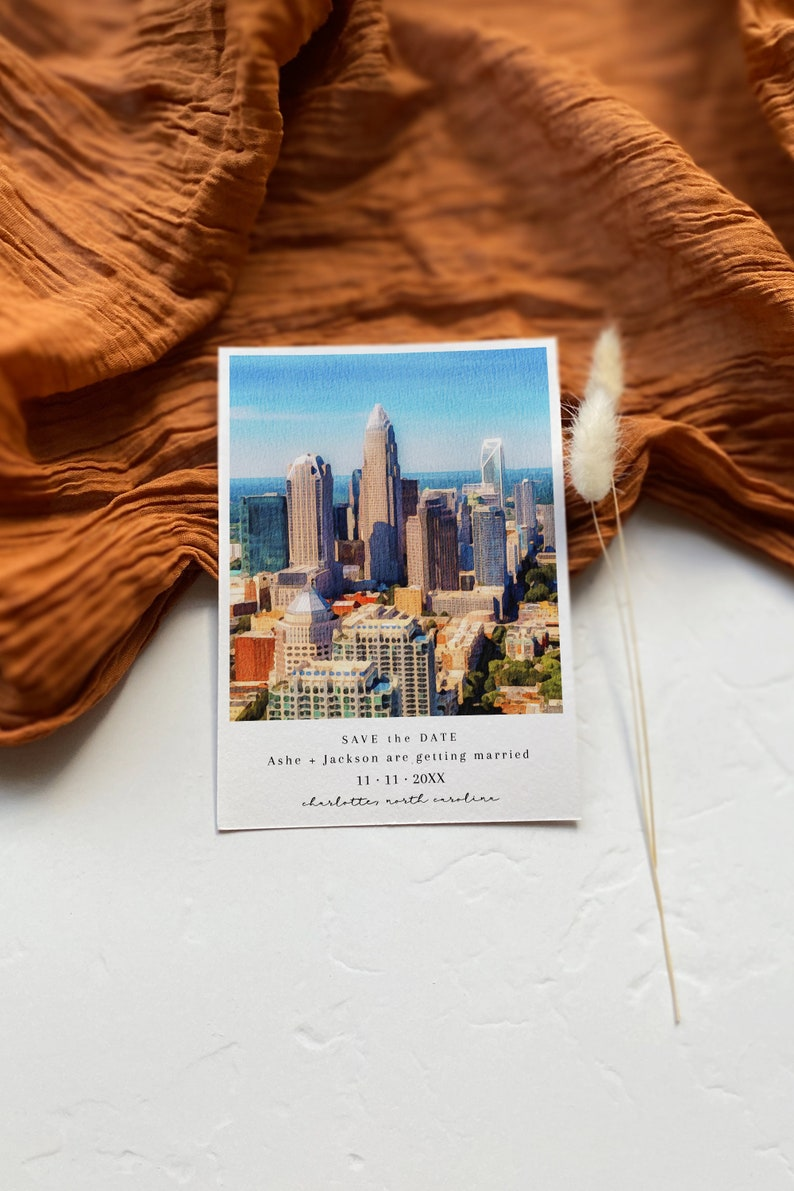 Journey Instant Download Charlotte Wedding Announcement Charlotte North Carolina Save The Date Printable North Carolina Save The Date