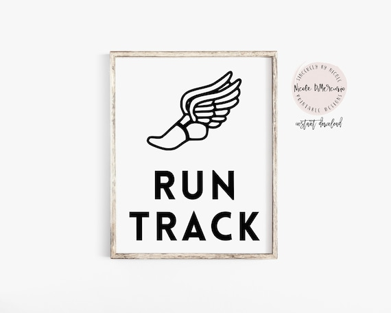 Run Track Track And Field Gift For Coach Printable Quote Etsy