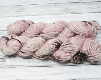 Ballet Shoes, DK yarn, hand dyed yarn, indie dyed yarn, hand painted, sock yarn, speckled yarn, HKNT, worsted weight
