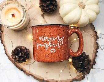 Morning Pumpkin / Autumn / Fall / Orange Campfire Mug