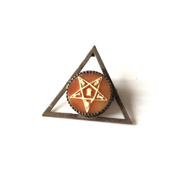 Antique Eastern Star Pin Masonic Mason, Vintage Ma
