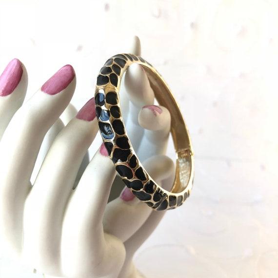 Leopard Bangle Bracelet Glam Leopard Clamper | VintageFlowertop Jewelry Finds