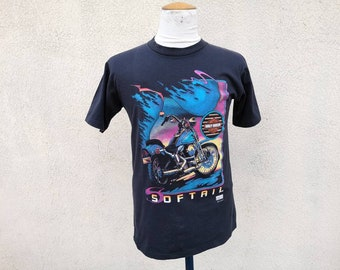 da46496650 Vintage 1995 Harley Davidson Softail with back logo t shirt size M